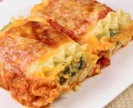Recipe: Healthy Lasagna Rolls. Would be good with shells.