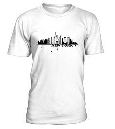 T shirt   New York Nyc City Skylines Drawing Art T shirt  fashion trend 2018 #tshirtdesign, #tshirtformen, #tshirtforwoment