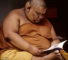 surprisingly enough there are indeed monks who are obese even though they only eat 1-2 meals a day. about half the monks in Thailand are obese!