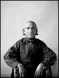 Portrait of Shawnee man Wapameepto (Gives Light As He Walks) or Wapamiqto (White Road), called Big Jim, Grandson of Chief Tecumseh, photographed March, 1898.