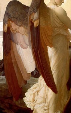 LEIGHTON Frederic Elijah in the Wilderness detail 1878 Oil on canvas x cm Walker Art Gallery Liverpool UK oldart Renaissance Kunst, Renaissance Paintings, Walker Art, Classical Art, Angel Art, Old Art, Religious Art, Aesthetic Art, Art Inspo