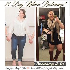 The response is overwhelming for my 21 Day Bikini Bootcamp challenge that ive had to open up another group!! My First round of challengers for the year just kicked off today and now I want to open it up to 5 more ladies!  21 Day Bikini Bootcamp 2.0 is beginning May 16th and it's opened for enrollment until NEXT MONDAY only for 5 ladies to join me!! _____ In 21 Days will you still be rocking those leggings and stretchy pants or those new shorts and a bikini! 21 days from our start date will…