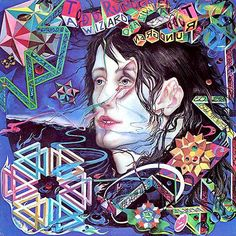 Todd Rundgren: A Wizard, a true star. Cover Painting: Arthur Wood. The cover art is a busy mix of geometry, surrealism and an odd folk art feel.