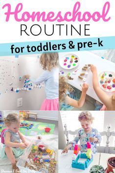 Preschool at Home: How to Structure the Day for Toddlers & Preschoolers