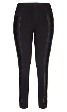 975b89729 City Chic - QUILTED STUD PANT - Women's Plus Size Fashion - #citychic  #citychiconline
