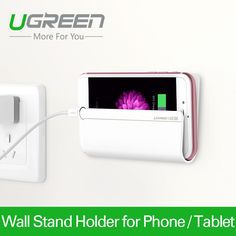 Ugreen Universal Wall Stand Mount Charger Phone Holder for iPhone for Mobile Phone for Samsung Huawei Xiaomi and Tablet