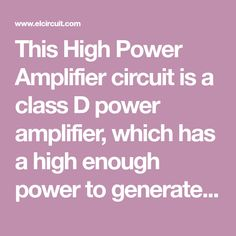 This High Power Amplifier circuit is a class D power amplifier, which has a high enough power to generate 3000W of power at 4 Ohm impedance - and also more power up to 4500W at 2 Ohm impedance. See schematic and PCB Layout here.