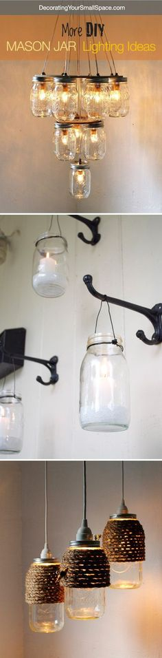 Hang hooks for mason jar candles