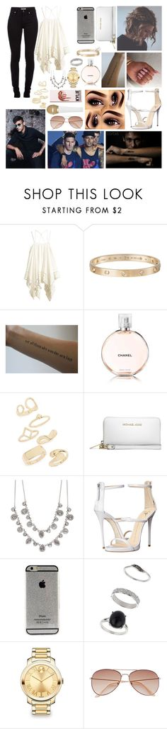 """""""Hosting a award show with Neymar Jr"""" by dope-neymar ❤ liked on Polyvore featuring Burberry, Cartier, Chanel, Topshop, Michael Kors, Givenchy, Giuseppe Zanotti, Miss Selfridge, Movado and H&M"""