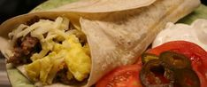 Egg And Sausage Breakfast Burrito Recipe - Breakfast. Breakfast Burrito Recipe Sausage, Make Ahead Breakfast Burritos, Vegetarian Breakfast, Best Breakfast, Egg Burrito, How To Cook Sausage, Cooking Recipes, Stuffed Peppers, Yogurt Popsicles