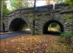Bridge on the Carriage Road Acadia National Park Bar Harbor Maine