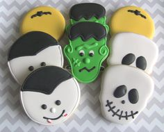 Goons and Ghouls Halloween Decorated Cookies