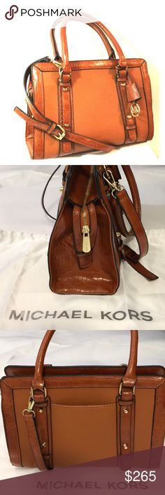 40217a2e89 New Michael Kors Hamilton Frame Out E W Satchel Beautiful Patent Leather  Handbag featuring gold