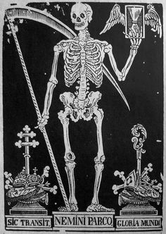 Vintage Tarot Card- Death - Skeleton