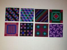 Vintage  fabric   Amish quilt squares  OOP by KoopsKountryKalico, $6.99