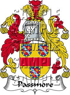 Passmore Family Crest apparel, Passmore Coat of Arms gifts