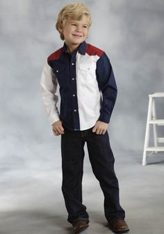 roper-boys-red-white-blue-colorblocked-ls-pearl-snap-cowboy-shirt