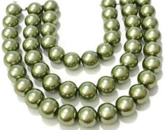 Check out Beads for jewelry making, olive green pearls, 6mm green glass pearls, pearl beads bulk, 6mm glass beads, wedding supplies, hair bow supplies on vickysjewelrysupply