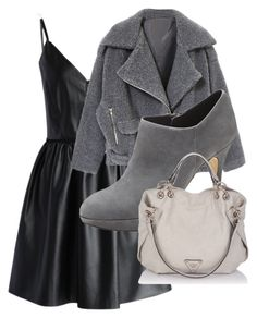 """""""Grey Days"""" by lohan-kbug on Polyvore featuring Chicwish, Vince Camuto, women's clothing, women's fashion, women, female, woman, misses and juniors"""