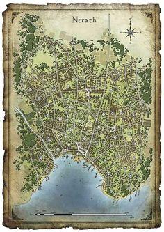 fourth edition dungeons and dragons world Fantasy City Map, Fantasy World Map, Fantasy Town, Medieval Fantasy, Dark Sun, Dark Fantasy, Plan Ville, Imaginary Maps, Village Map