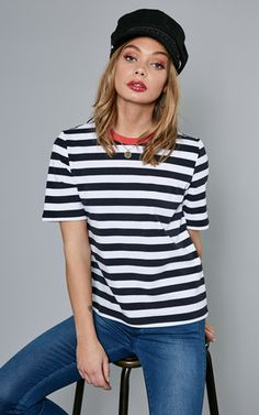 e181cd5462e Night Sky With White Stripe Tee Jumpsuit Dress