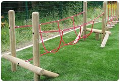 Burma Rope Bridge Made in the UK by Playground Imagineering