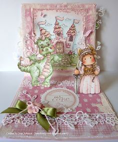 What little girl (or big girl!) wouldn't love to receive this card?  Jane of Jane's Lovely Cards.