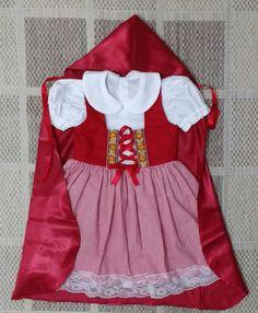 Vestido Chapeuzinho Vermelho | Adoleta Ateliê Infantil | Elo7