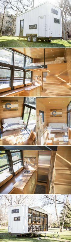 The Atlas: a 196 sq ft tiny house with an outdoor dining space