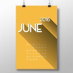 Printable bold 2016 calendar with a cool retro feel | Futska