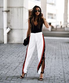 Back in fashion-town: Tearway jogging! But how do you style this statement piece?