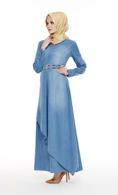 Elegant Denim Abaya Fashion for Muslim Ladies – Girls Hijab Style & Hijab Fashion Ideas