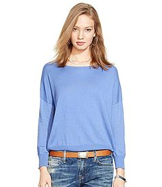 Polo Ralph Lauren DroppedShoulder Sweater #Dillards