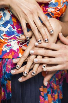 The New Nail Art Trend from Fashion Week - Tanya Taylor-Wmag