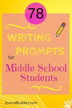 Best Writing Topics  Journals For Middle School And High School   Writing Prompts For Middle School Kids Part   Journal Buddies