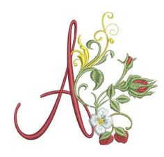Beautiful rosebuds grace twenty-six elegant alpha letters ready for you to stitch and create something special! Uses include pillow cases, place mats, towels, pillows. whatever your heart can dream Embroidery Flowers Pattern, Embroidery Monogram, Embroidery Applique, Embroidery Designs, Morse Code Tattoo, Alpha Letter, Machine Embroidery Projects, Creative Lettering, Monogram Styles