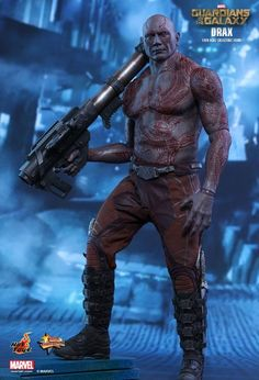 Hot Toys is officially presenting the scale collectible figure of Drax the Destroyer for fans to complete their Guardians of the Galaxy team. Marvel Heroes, Marvel Characters, Captain Marvel, Marvel Avengers, Marvel Comics, Drax Der Zerstörer, Guardians Of The Galaxy, Hawkeye, Hulk