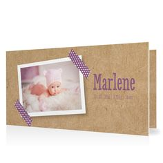 Geburtskarte Masking Tape in Lavendel - Klappkarte flach lang #Geburt #Geburtskarten #Mädchen #Foto #kreativ #vintage https://www.goldbek.de/geburt/geburtskarten/maedchen/geburtskarte-masking-tape?color=lavendel&design=7cade&utm_campaign=autoproducts