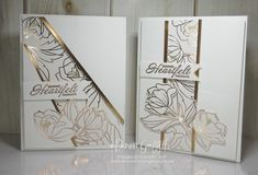 Hi Stampers, Happy Thursday friends ! Yesterday in The Glitter Pit we made this card using the Heartfelt Blooms stamp set (w)#147197 (c)#147202 and the Springtime Foil designer paper #147193 which is also a Sale-a-Bration item HERE. I love this card with all the copper and the designer paper really steals the show …