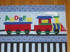 Train Quilt Finished