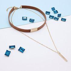 Luxury Black/Brown Velvet Choker Necklace with Tassel Pendant