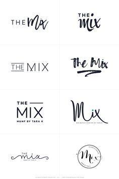 The Mix By Tara - Logos R1 - logo design, wordpress theme, mood board inspiration, blog design idea, graphic design, branding, style blog, fashion