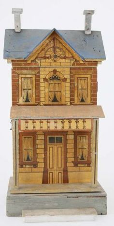 Small Blue Roof Gottschalk Dolls' House. .....Rick Maccione-Dollhouse Builder www.dollhousemansions.com