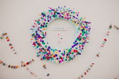 confetti wreath is so fun and festive