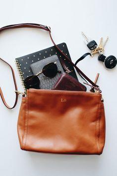 Lo & sons pearl bag, leather bag flatlay www.