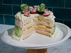 Get Sandwich Cake Recipe from Food Network Smorgastarta Voileipäkakku