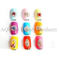 Create elegant wedding nail art designs with our quality Rhinestones Nail art Decorations. Visit AQ Nail Art to know more!http://www.aqnailart.com/category/nail-decorations/rhinestones-nail-art-decorations