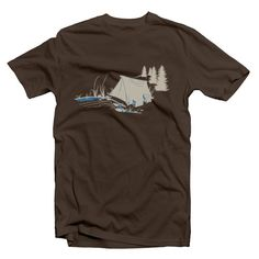 Backcountry Camping Organic T-Shirt in blue