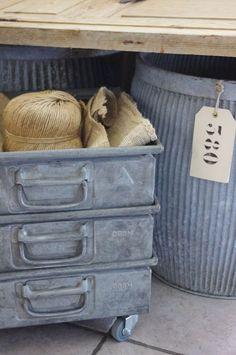 zinc bins