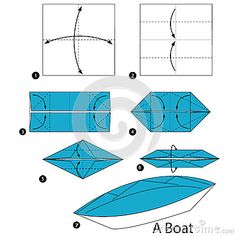 Step By Instructions How To Make Origami A Boat